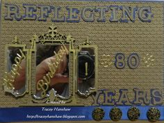 MALE 80th VINTAGE BIRTHDAY CARD.