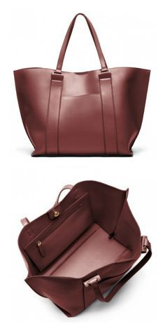 Sleek oxblood tote bag | Sole Society Raven
