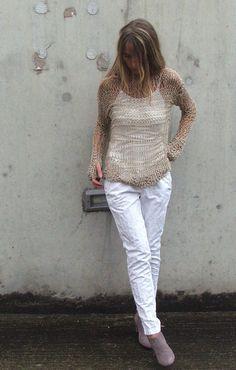 SUMMER LOVIN cotton loose knit open weave iLE AiYE by ileaiye