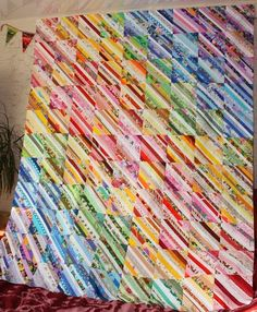 Rainbow Selvage Quilt