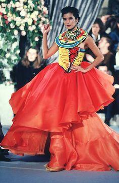 1997 - John Galliano for Dior Couture show - Patricia Velasquez