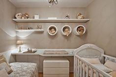 Fotografia de Quarto para bebê com prateleiras e nichos por Ana Camila Vieira #964105.