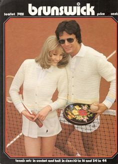 1970's Tennis Clothing Leaflet to Crochet and by betrunkepenguin, $2.20