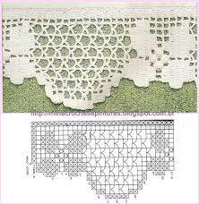 Resultado de imagem para Toalha de banho barrado em flores em croche picasa