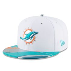 online store f93ef 4b397 Miami Dolphins New Era Youth 2017 NFL Draft Official On Stage 59FIFTY  Fitted Hat - White