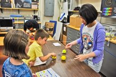 Kids participate in AstroFest activities.