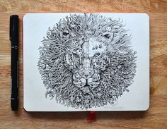 Illustrator Kerby Rosanes' doodle sketches are done mostly with simple black pens and are made up of various characters, patterns and objects. See more!