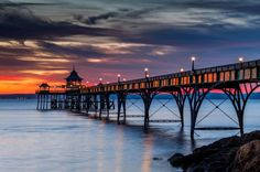 Clevedon Pier at sunset