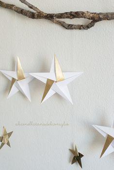 la Tana del Coniglio: Christmas star origami tutorial - origami stella