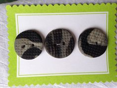 Black Gray Marble Polymer Clay Buttons on Etsy, $4.50