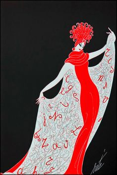 The art of #Erte never fails to please me...it is truly beautiful, elegant, and perfect, perfect every time.
