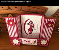 U box fold Flip Cards, Fancy Fold Cards, Folded Cards, Graduation Cards Handmade, Bridge Card, Craftwork Cards, Mini Albums, Birthday Cards For Women, Interactive Cards