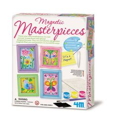 Mini Magnetic Masterpieces — Turn the mini canvas into magnet masterpieces. They are wonderful refrigerator magnets that you can pose in incredible ways. Let your refrigerator speak your style...
