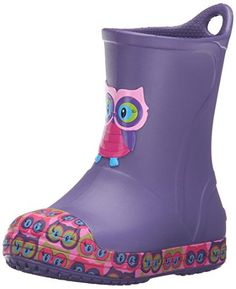 crocs Bump It Graphic Rain Boot (Toddler/Little Kid), Blue Violet, 13 M US Little Kid: Vintage sneaker inspired rain boot style Rubber bumper toe and bottom band Iconic crocs comfort: the original croslite foam cushion Rain Boots Fashion, Kid Check, Vintage Sneakers, Vintage Children, Girls Shoes, Crocs, Rubber Rain Boots, Blue, Stuff To Buy