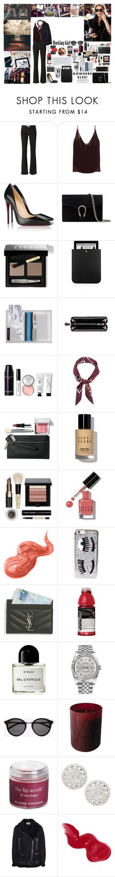 """Unbenannt #667"" by isa1 ❤ liked on Polyvore featuring IRO, J Brand, Christian Louboutin, Gucci, Bobbi Brown Cosmetics, Yves Saint Laurent, Bottega Veneta, Ralph Lauren Blue Label, Chiara Ferragni and Byredo"