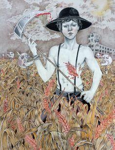 #illustration by Ceren Aksungur #popsurreal #lowbrow #darkart #pencil #ink
