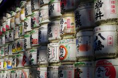 Sake barrels dedicated to Meiji Jingu