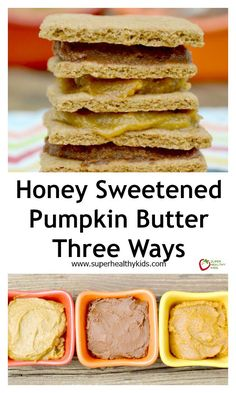 Honey Sweetened Pumpkin Butter Three Ways - My kids love it on Toast, Graham crackers, sandwiches, apples, celery! What would you spread pumpkin butter on? http://www.superhealthykids.com/honey-sweetened-pumpkin-butter-three-ways/