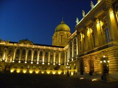 Inside the Buda Castle at night