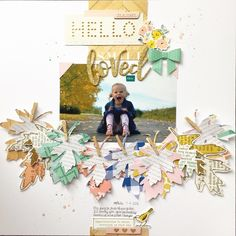 Maggie Holmes BLoom Shine Gather. Learn more about this week's most favorited layout!