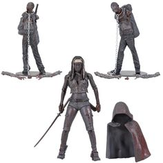Walking Dead Michonne and Zombies Action Figures