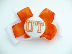 University of Tennessee Embroidered bow. $10.00, via Etsy. Baby girl.