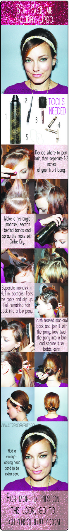 Soft Volume Holiday Updo with Kelly Peach and Oribe Hair Use Oribe Dry and this guide to get a soft, Holiday Hairstyles, Trendy Hairstyles, Volume Updo, Hair Growth Stages, Grey Eyeshadow, Simple Bridesmaid Hair, Mane Event, Hair Hacks, Hair Tips