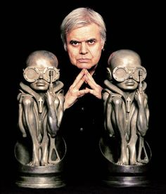 """H.R. Giger - surreal artist/sculptor most famous for his bio-mechanical design aesthetic for the """"Aliens"""" film franchise, including the newest installment, a prequel to the first film, directed by Ridley Scott!"""