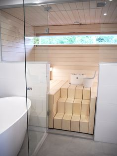 Saunaaa, yes please! Sauna House, Sauna Room, Spa Rooms, House Rooms, Modern Saunas, Piscina Spa, Indoor Sauna, Sauna Design, Finnish Sauna