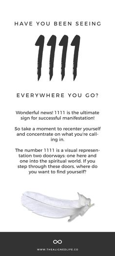 Are you seeing repeating numbers everywhere? Wonder what the mean? Here's How To Manifest With Angel Number 1111 #manifesting #angelnumbers #1111 #1111meaning