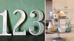 industrial design, industrial numbers, vintage numbers