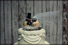 Love Birds Wedding Cake TopperRustic Wedding by MorganTheCreator, $30.00