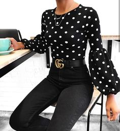 Polka Dot street style fashion / fashion week Source by cecijfv clothes fashion closet Mode Outfits, Fashion Outfits, Womens Fashion, Fashion Trends, Summer Work Outfits, Fall Outfits, Summer Clothes, Work Fashion, Fashion Looks