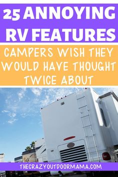 If you're a first time buyer or soon to be full timer, make sure to check out these 25 RV features before buying so that you don't end up regretting it later. but still being stuck with the payments! Rv Camping Tips, Camping Supplies, Camping Activities, Camping Life, Rv Life, Family Camping, Camping Products, Camping Ideas, Kids Checklist