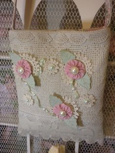 Shabby Chic Handbag Vintage Doilies by touchograce on Etsy, $69.00