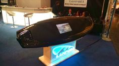 The German-designed Lampuga Electric surfboard speeds up to 34 mph (55 km/h) and claims of being the world's fastest e-surfboard.