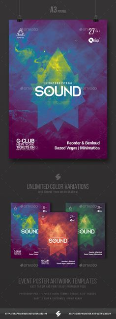 Extraterrestrial Sound  Progressive Party Flyer Template A3  — PSD Template #deep #club • Download ➝ https://graphicriver.net/item/extraterrestrial-sound-progressive-party-flyer-template-a3/18627036?ref=pxcr