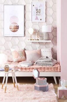 Pastel room decor, pastel girls room, girl room decor, pastel b Pastel Room Decor, Pink Home Decor, Pastel Girls Room, Pink Kids, Deco Rose, Teen Girl Bedrooms, Pink Bedrooms, Girl Rooms, Simple Bedrooms