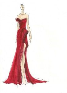 A night on the red carpet, introducing Donna Karan Atelier and a few words by your sponsor (me) on celeb dressing. Donna Karan, Fashion Sketchbook, Fashion Sketches, Fashion Illustrations, Moda Fashion, Fashion Art, Fashion Design, Girl Fashion, Vintage Fashion
