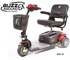 Golden Technologies  Buzzaround EX  Travel Scooter  3Wheel  Red *** Locate the offer simply by clicking the image http://www.amazon.com/gp/product/B01N9KQIOX/?tag=buyamazon04b-20&pya=260217221157