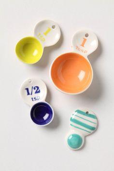 & numbers.    color tab measuring spoons / @Anthropologie.