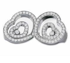 Chopard Earrings - Chopard Happy Spirit Jewelry Collection Diamond Heart Earrings