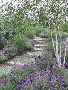 52 Fresh Front Yard and Backyard Landscaping Ideas for 2018 Garden Steps, Garden Paths, Hill Garden, Meadow Garden, Woodland Garden, Landscape Design, Garden Design, The Secret Garden, Lavender Garden