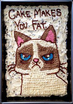 Happy Birthday from Grumpy Cat ... #cats #humor #grumpy #cake