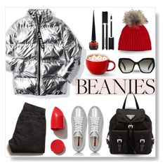 """Pompom WOW..."" by desert-belle ❤ liked on Polyvore featuring Overland Sheepskin Co., Ivy Park, Prada Sport, Prada, Todd Snyder, NARS Cosmetics, Givenchy, Christian Louboutin, polyvoreeditorial and pompombeanies"