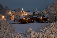 Porvoo in winter, southern Finland I Love Winter, Winter Night, Winter Is Coming, Cozy Winter, Winter Snow, Christmas 24, Country Christmas, Winter Magic, Winter Photos