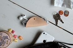 Laura Kaesshaefer DIY Leather Headphone Holder