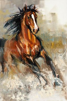 El Giclée de semental caballo Arte pintado por JenBrandonStudio