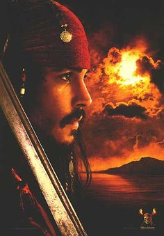 Johnny Depp as Captain Jack Sparrow in Pirates of the Carribean