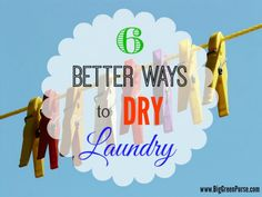 Check out these awesome alternative ways to dry your laundry.